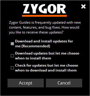 Zygor Clients Fixed - New Automatic Upgrade Feature